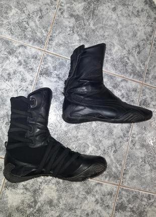 Puma кожаные кроссовки борцовочки стильные