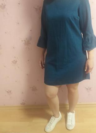 Платье f&f джинсовые размер 14