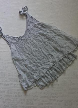 Очаровательная шелковая майка (италия), воздушная блуза на трикотажной подкладке