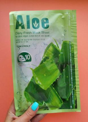 Набор тканевых масок с экстрактом алоэ вера tony moly daily fresh mask sheet aloe