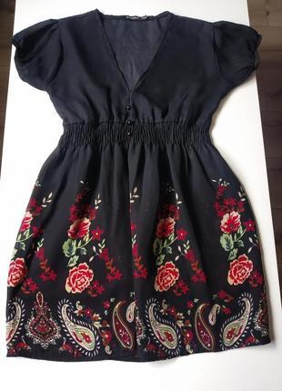 Платье с ярким принтом,туника