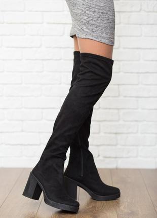 Ультрамодные сапоги-чулки asos на массивном каблуке  sh4107  asos