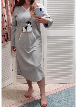 Флисовое платье для дома/сорочка для сна marks&spencer
