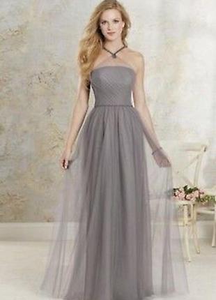 Новое шикарное платье с жемчугом alfred angelo