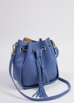 Вместительная сумка-мешок на каждый день. кожа.