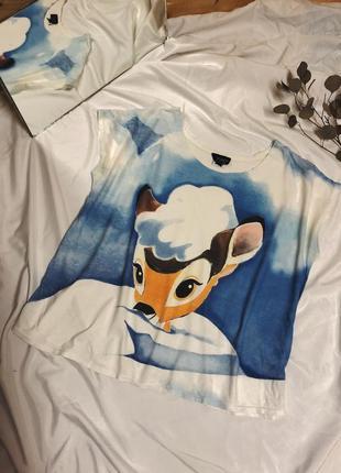 Мила фірмова футболка з бембі від topshop disney