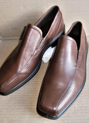 Туфли слипоны ecco johannesburg 623584 оригинал натуральна кожа