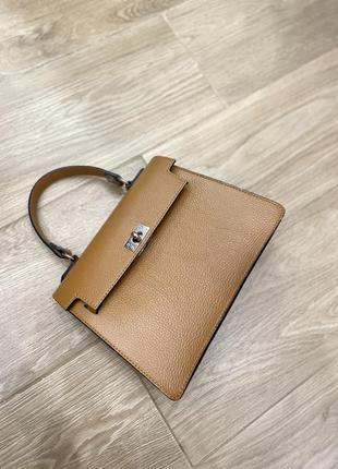 Кожаная сумка италия в стиле hermès