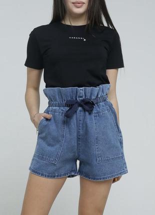 Новые джинсовые шорты высокая посадка