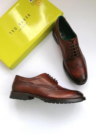 Качественные мужские туфли, броги ted baker