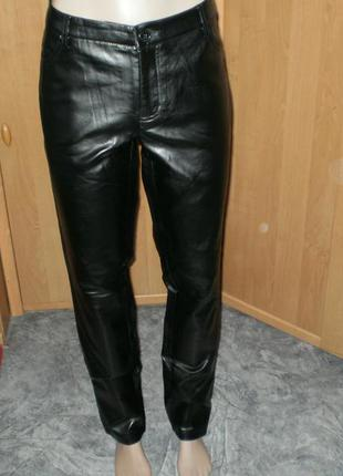Шик!! шикарный кожаные зауженные брюки р. bodyflirt р. 14