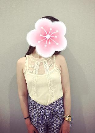 Кружевной топ/блуза