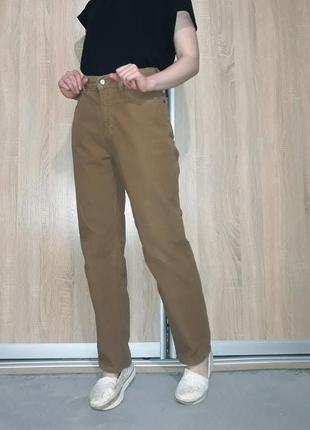 Винтажные рыжие плотные джинсы прямые мом на высокой посадке lee cooper levis wrangler