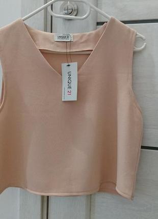 Шикарный персиковый топ, блузка, блуза, кроп-топ