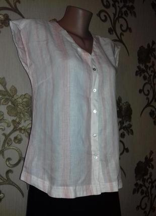 Блуза  100%лен 46,48,50рр