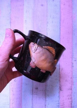 Кружка для рыбака из полимерной глины