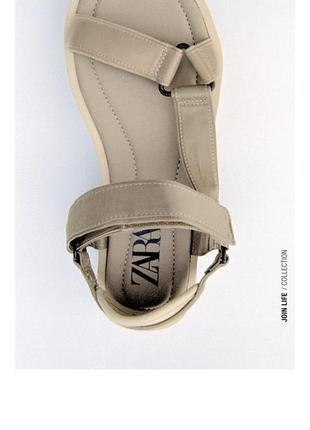 Босоножки сандали с ремешками zara