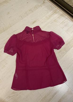 Малиновая блузка размер s