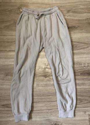 Трендовые бежевые джоггеры спортивные штаны на манжетах