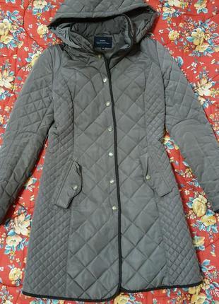 Стёганое пальто xs-s