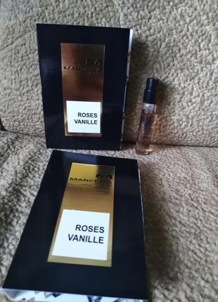 Mancera roses vanille оригинал, пробник, нишевая парфюмерия 2 мл