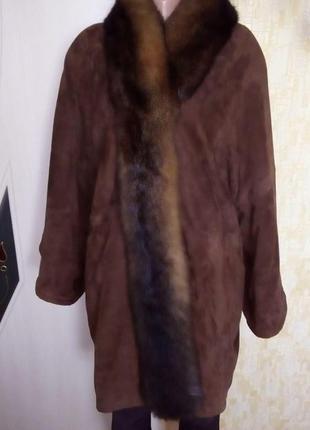 Vip.италия!статусная натуральная дублёнка/ пальто /куртка/ полушубок /дублёнка/ шуба