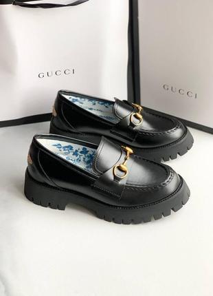 Loafers horsebit чёрные лоферы