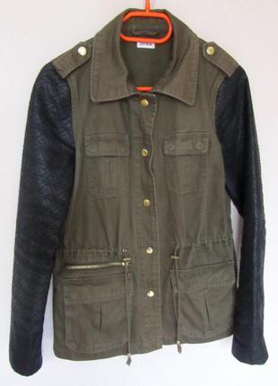 Куртка ветровка парка pimkiе в стиле милитари (хаки)