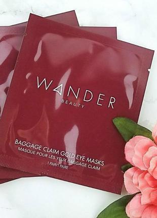 Золотые патчи для осветления и увлажнения wander beauty baggage claim gold eye masks