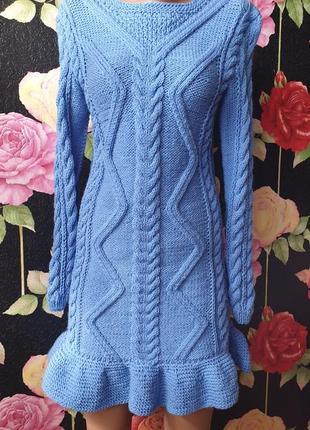 Вязаное платье р 42 ручная работа