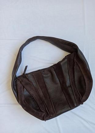 Итальянская оригинальная сумка кожа замша tosca blu коричневая
