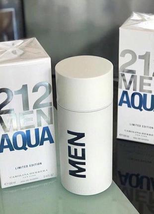 Carolina herrera 212 men aqua limited edition оригинал_eau de toilette 10 мл затест