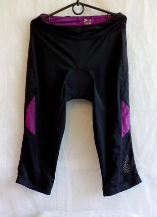 Crivit велошорты памперс coolmax® fresh fx размер м цвет черный фиолетовый
