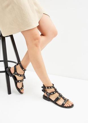 Кожаные босоножки ash женские сандали с заклепками ash