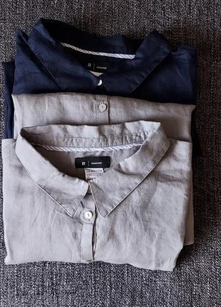 Льняная оверсайз рубашка r essentiel  как massimo dutti mango zara