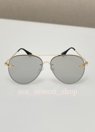 Женские солнцезащитные зеркальные очки капельки,жіночі окуляри сонцезахисні