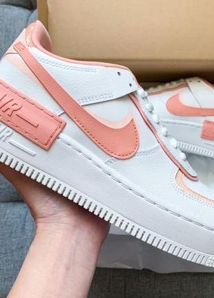 Женские кроссовки air force shadow white orange