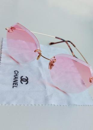 Очки розовые стёкла