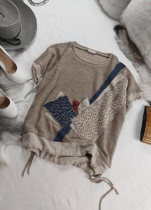 Шикарный льняной джемпер свитер кофта