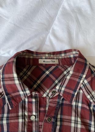 Рубашка сорочка в клітинку massimo dutti s1 фото