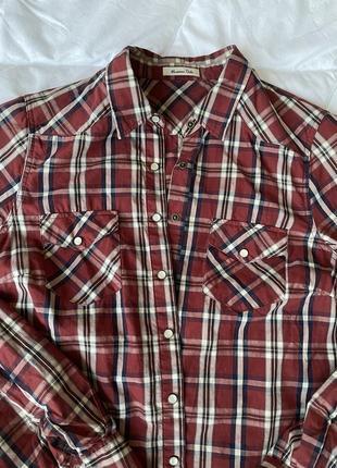 Рубашка сорочка в клітинку massimo dutti s2 фото