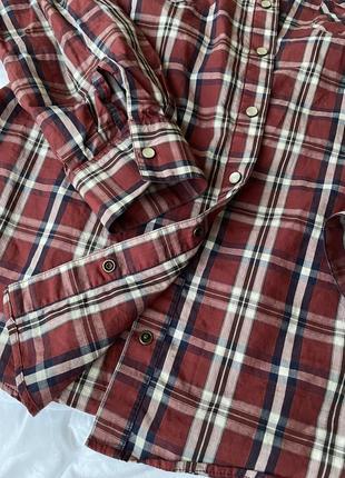 Рубашка сорочка в клітинку massimo dutti s4 фото