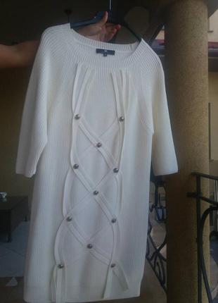 Вязаное платье 42ит.