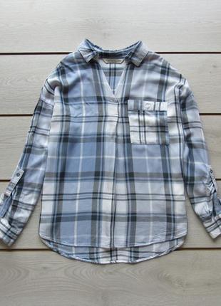Вискозная блуза рубашка в клетку от f&f