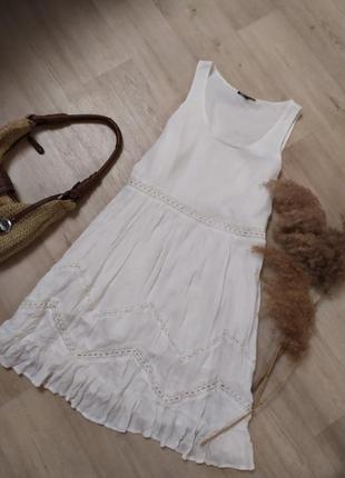 Чудесное платье свободного кроя с кружевом кроше