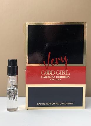 Carolina herrera very good girl парфюмированная вода пробник