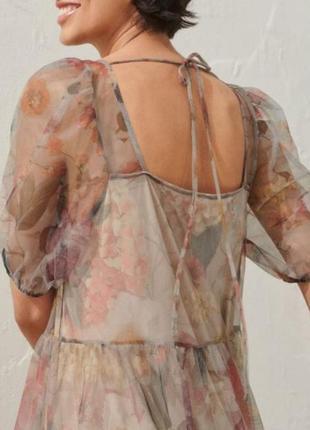 H&m платье с пышными рукавами