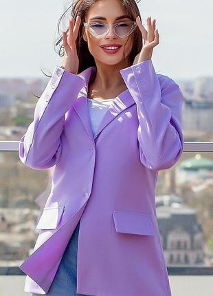 Новый женский стильный пиджак кардиган батал полубатал весна лето большой размер