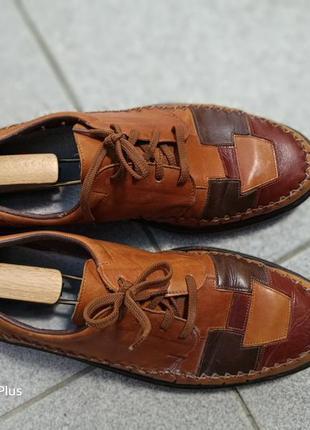 Легкие, комфортные кожаные летние туфли rieker из натуральной кожи