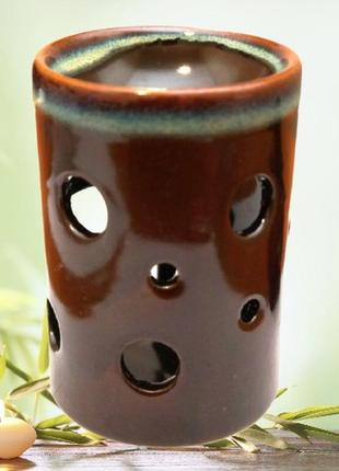 Аромалампа керамическая коричневая
